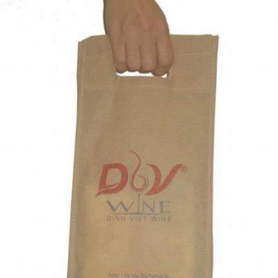 Túi vải không dệt đựng rượu 2 chai