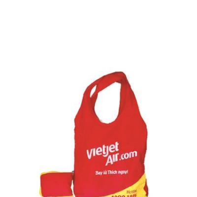 Túi vải không dệt xếp ví dây kéo khóa